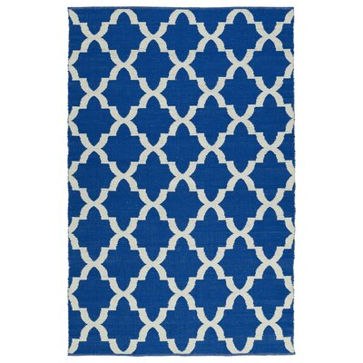 Tyesha Navy/Cream Indoor/Outdoor Area Rug Rug Size: Runner 2 x 6