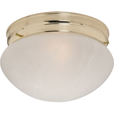 Hopi 1-Light Flush Mount Finish: Polished Brass, Size: 5 H x 9 W