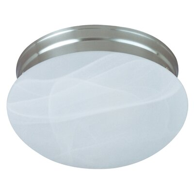 Hopi 1-Light Flush Mount Finish: Satin Nickel, Size: 5 H x 8 W