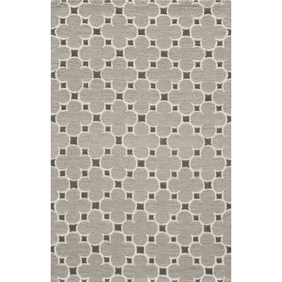 Sharell Hand-Tufted Taupe Area Rug Rug Size: Rectangle 5 x 8