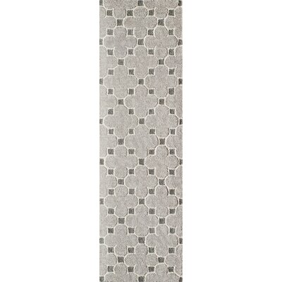 Sharell Hand-Tufted Taupe Area Rug Rug Size: Runner 23 x 8