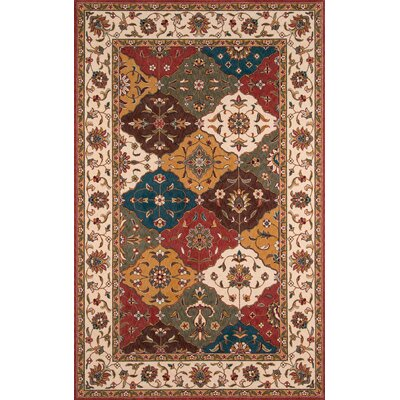 Badger Mountain Red/Orange/Teal Area Rug Rug Size: Rectangle 2' x 3'