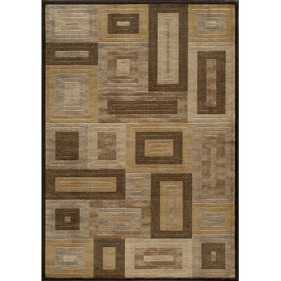 Sherill Brown Synthetic Area Rug Rug Size: 53 x 76