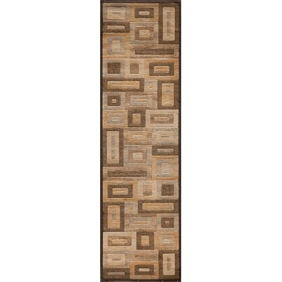 Sherill Brown Synthetic Area Rug Rug Size: Runner 23 x 76