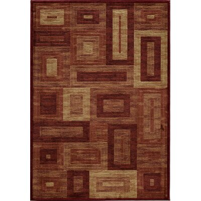 Sherill Red Area Rug Rug Size: 93 x 126