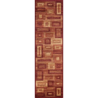 Sherill Red Area Rug Rug Size: Runner 23 x 76