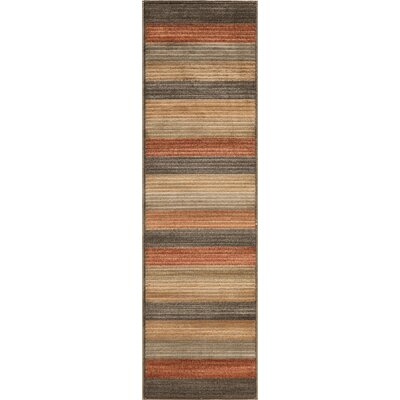 Sherill Yellow/Red/Gray Area Rug Rug Size: 53 x 76
