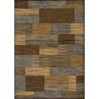Sherill Brown/Beige Area Rug Rug Size: 53 x 76