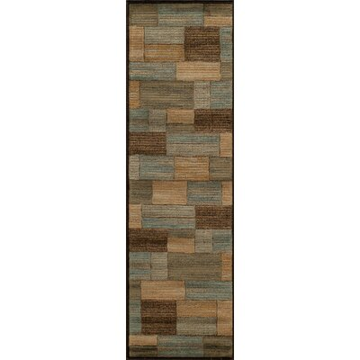 Sherill Brown/Beige Area Rug Rug Size: Runner 23 x 76