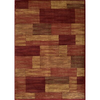 Sherill Burgundy/Beige Area Rug Rug Size: Rectangle 93 x 126