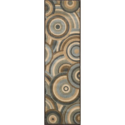 Sherill Brown Geometric Area Rug Rug Size: 53 x 76
