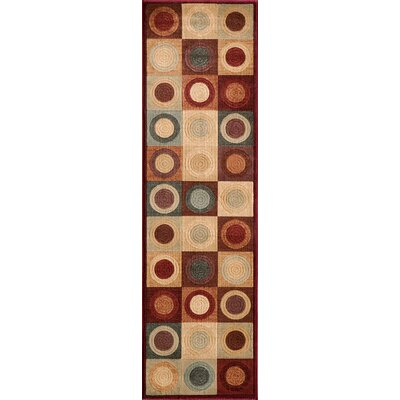 Sherill Red/Beige Area Rug Rug Size: Rectangle 93 x 126