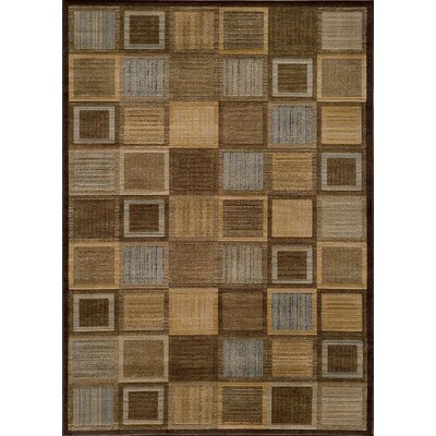 Sherill Brown Abstract Indoor Area Rug Rug Size: Rectangle 53 x 76