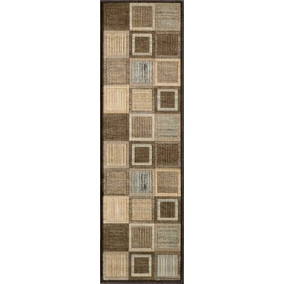 Norwalk Brown Area Rug Rug Size: Runner 2'3