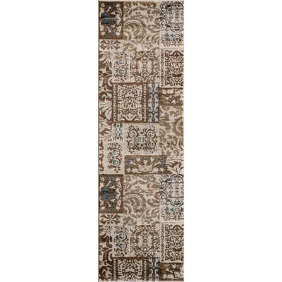 Sherill Ivory Geometric Area Rug Rug Size: Rectangle 93 x 126