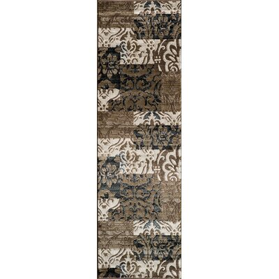 Sherill Ivory Synthetic Area Rug Rug Size: Runner 23 x 76
