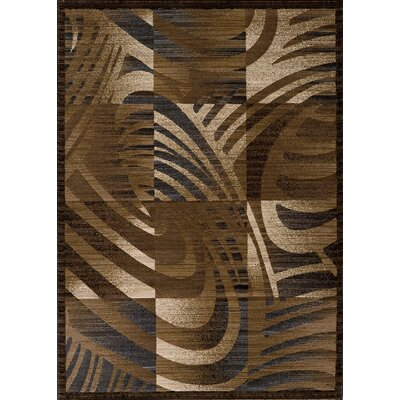 Sherill Brown Abstract/Geometric Area Rug Rug Size: 53 x 76