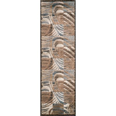 Sherill Brown Abstract/Geometric Area Rug Rug Size: Runner 23 x 76