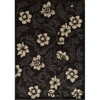 Sherill Charcoal Area Rug Rug Size: Rectangle 93 x 126