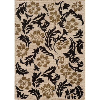 Sherill Ivory Abstract Area Rug Rug Size: 53 x 76