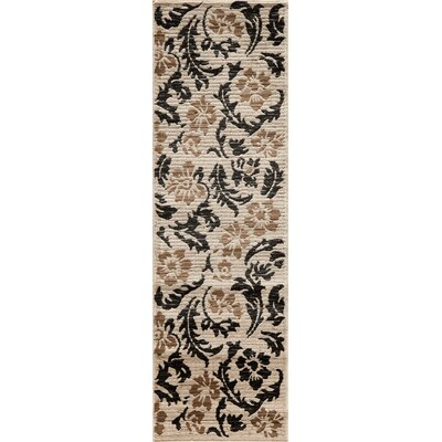 Sherill Ivory Abstract Area Rug Rug Size: Runner 23 x 76