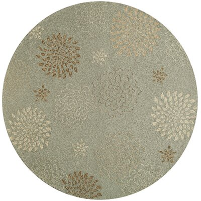 Norwich Light Blue Indoor/Outdoor Area Rug Rug Size: Round 9