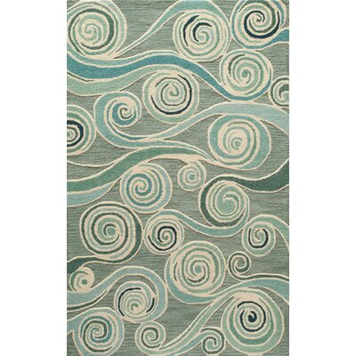 Sharell Hand-Tufted Light Blue Area Rug Rug Size: Rectangle 36 x 56