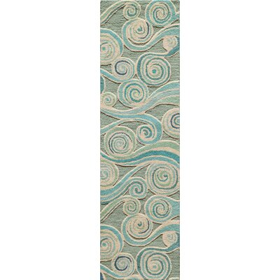 Sharell Hand-Tufted Light Blue Area Rug Rug Size: Runner 23 x 8
