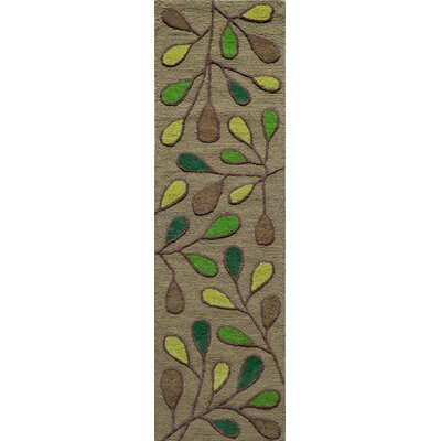 Coyan Hand-Tufted Green Area Rug Rug Size: 2 x 3