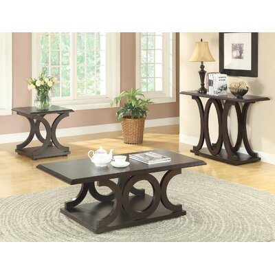 Adaline 3 Piece Coffee Table Set