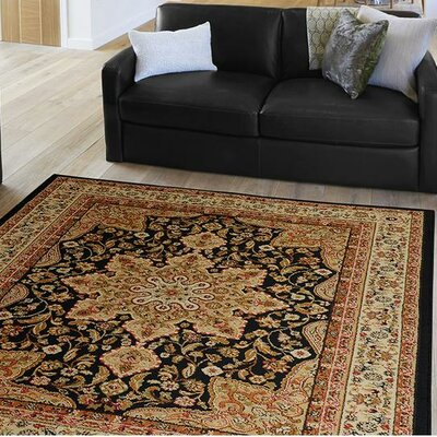 Blanche Black Area Rug Rug Size: Rectangle 52 x 72