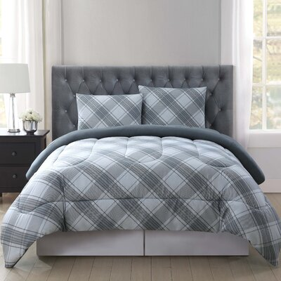 Merritt Reversible Comforter Set Size: Twin XL, Color: Gray