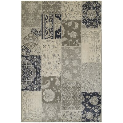 Harris Ivory/Gray Area Rug Rug Size: Rectangle 53 x 76