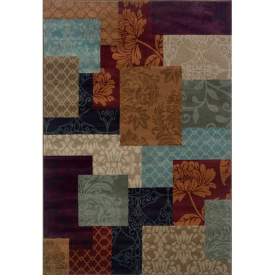 Carter Brown/Beige Area Rug Rug Size: Rectangle 53 x 76