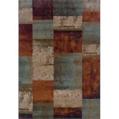 Carter Blue/Orange Area Rug Rug Size: Rectangle 710 x 1010