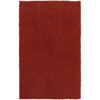Parkstone Hand-Tufted Red Area Rug Rug Size: 5 x 7