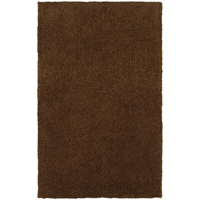 Parkstone Hand-Tufted Brown Area Rug Rug Size: 5 x 7