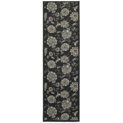 Parsons Midnight/Ivory Area Rug Rug Size: Runner 23 x 76
