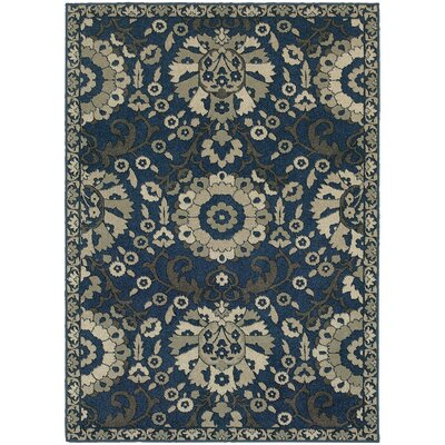 Alexander Midnight/Beige Area Rug Rug Size: Rectangle 710 x 1010