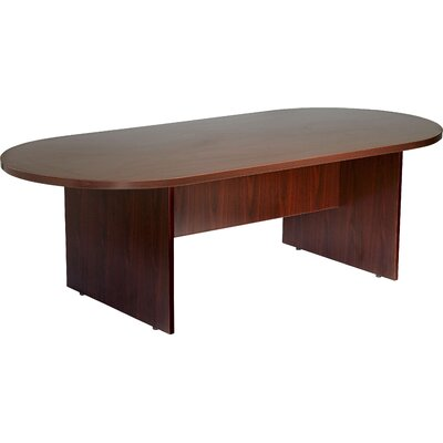 Cheryl Oval Conference Table Color: Mocha, Size: 8 L