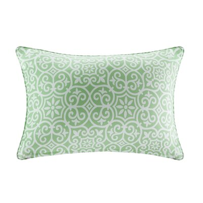 Callery Fretwork 3M Scotchgard Outdoor Lumbar Pillow Color: Green