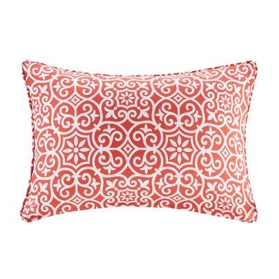 Callery Fretwork 3M Scotchgard Outdoor Lumbar Pillow Color: Red
