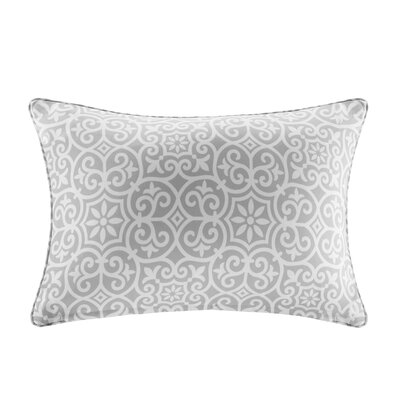 Callery Fretwork 3M Scotchgard Outdoor Lumbar Pillow Color: Gray