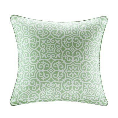 Callery Fretwork 3M Scotchgard Outdoor Throw Pillow Color: Green