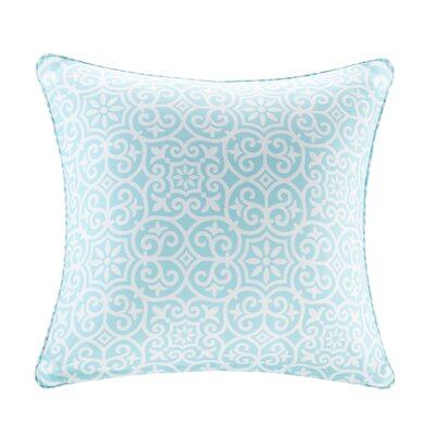 Callery Fretwork 3M Scotchgard Outdoor Throw Pillow Color: Aqua