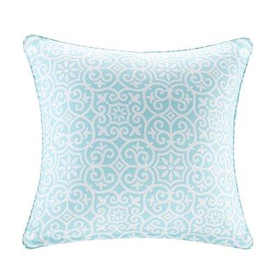 Callery Fretwork 3M Scotchgard Outdoor Throw Pillow Color: Aqua