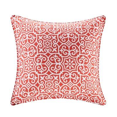 Callery Fretwork 3M Scotchgard Outdoor Throw Pillow Color: Red