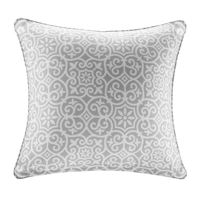Callery Fretwork 3M Scotchgard Outdoor Throw Pillow Color: Gray