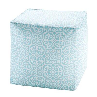 Callery Fretwork 3M Scotchgard Outdoor Pouf Ottoman Upholstery: Aqua