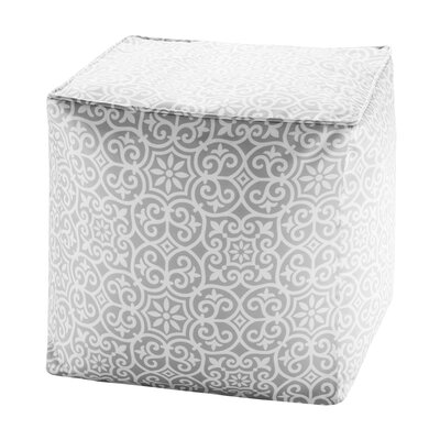 Callery Fretwork 3M Scotchgard Outdoor Pouf Ottoman Upholstery: Gray